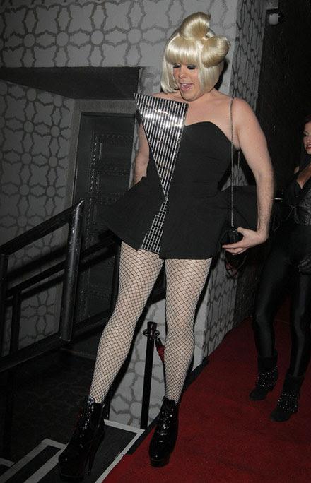 lady gaga funny. He was Lady GaGa!
