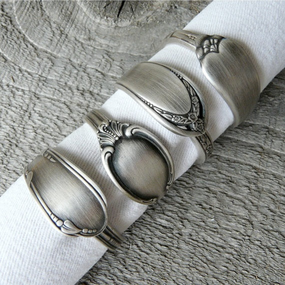 antique spoon napkin rings by Revisions, Marquette, MI