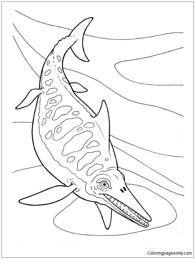 Ichthyosaurus Dinosaur 1 Coloring Page - Free Coloring ...