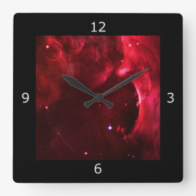 Sculpted Region of the Orion Nebula Square Wall Clocks