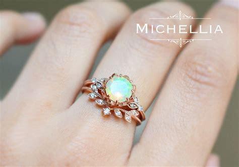 Vintage Floral Ring in Opal, Ethiopian Fire Opal