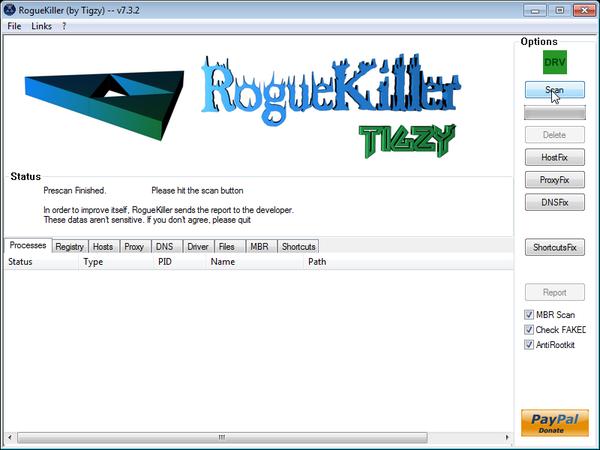 [Image: RogueKiller while scanning]