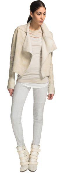 Isabel Marant Clayne Jacket in Beige (ecru) - Lyst