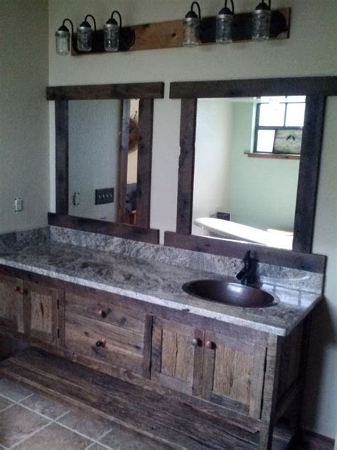 prim antique wood bathroom sink vanity  counter top