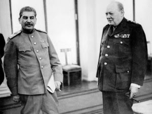 Winston Churchill y Iósif Stalin