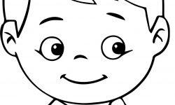 Gülen çocuk Yüzü Boyama Sayfası
