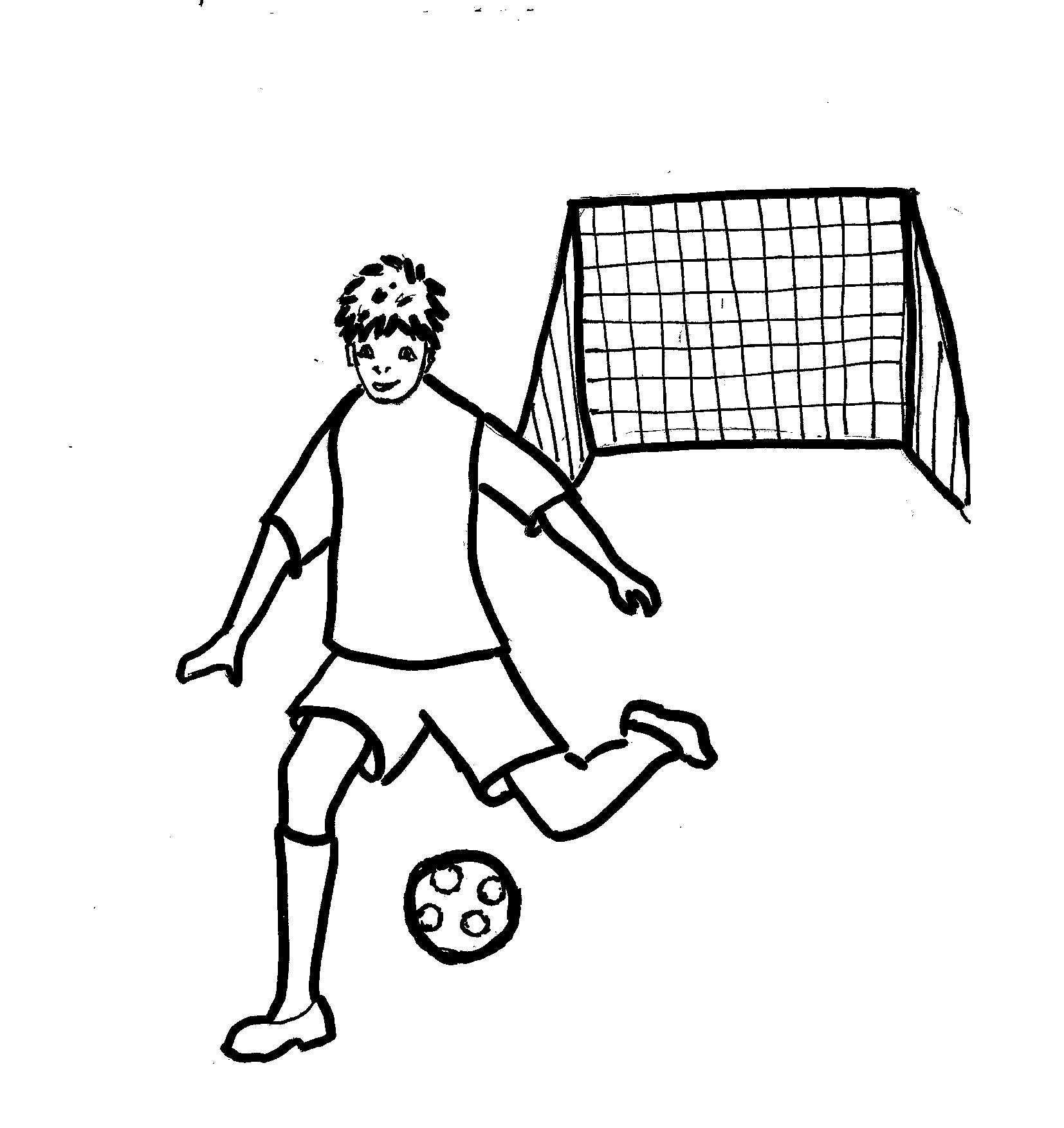 Bambini Che Giocano A Calcio Disegni Stampae Colorare