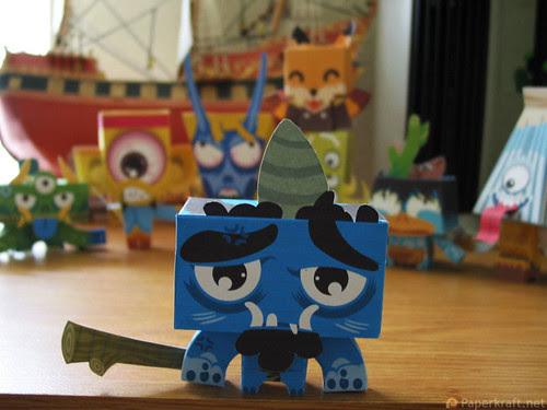 Japanese Monster Papercrafts - Oni