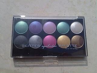 Glitter Eyeshadow palette H