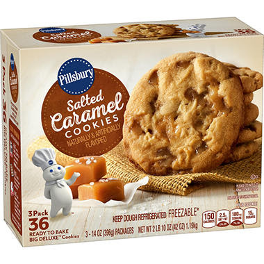 Pillsbury Salted Caramel Ready-to-Bake Big Deluxe Cookies ...