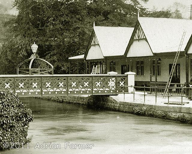 Footbridge at Belper River Gardens in working order.