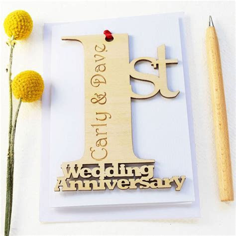 Greeting Card. Stunning 1st Wedding Anniversary Card