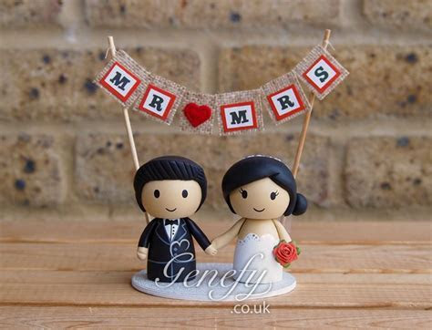 195 best images about Cute Wedding Cake Toppers by Genefy