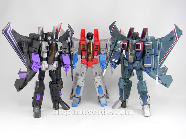 Transformers Starscream Masterpiece MP-11 - modo robot vs MP-03 vs Skywarp