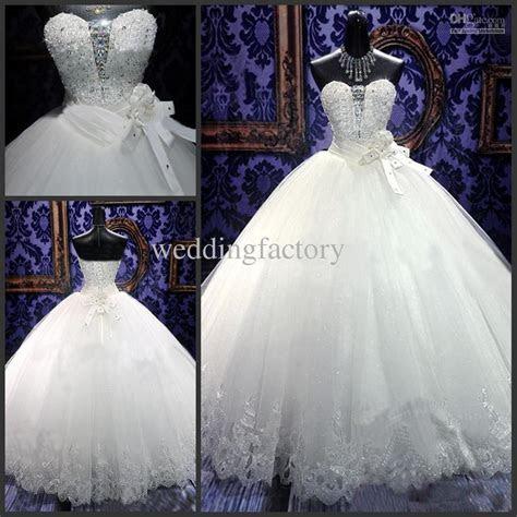 Real Luxury Bling Bling Wedding Dresses 2015 Sweetheart