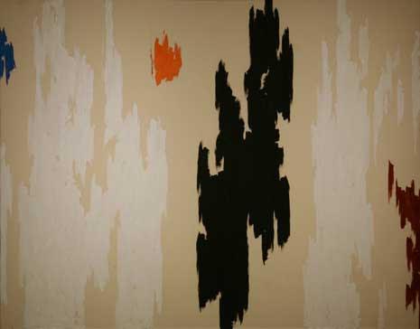 1962-D, Oil on canvas by Clyfford Still