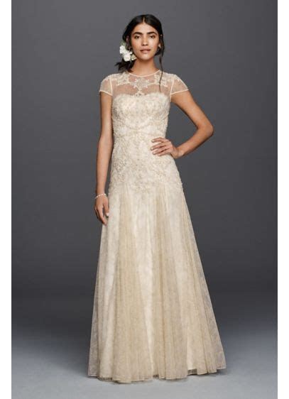 Melissa Sweet Cap Sleeve Illusion Wedding Dress   David's