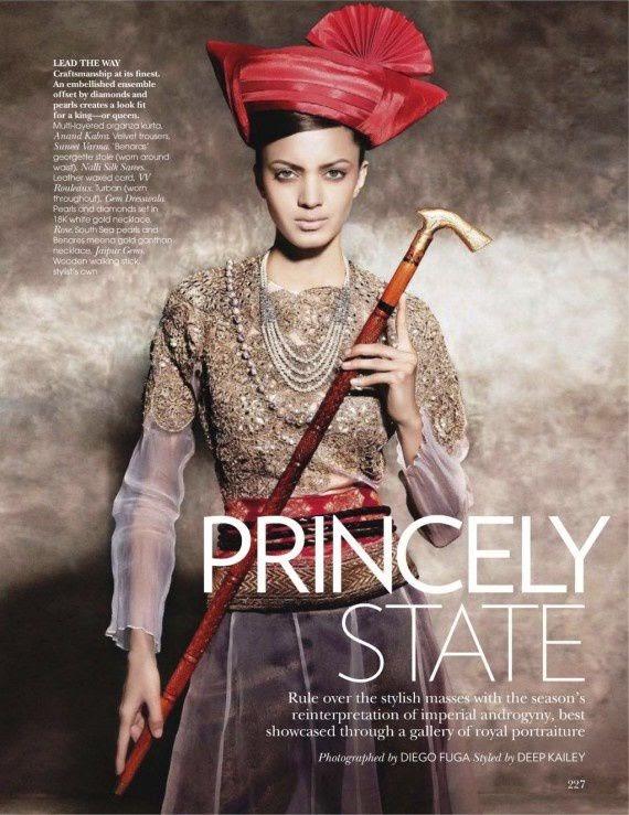 Jyothsna Chakravarthy in a princely look androgynous ...