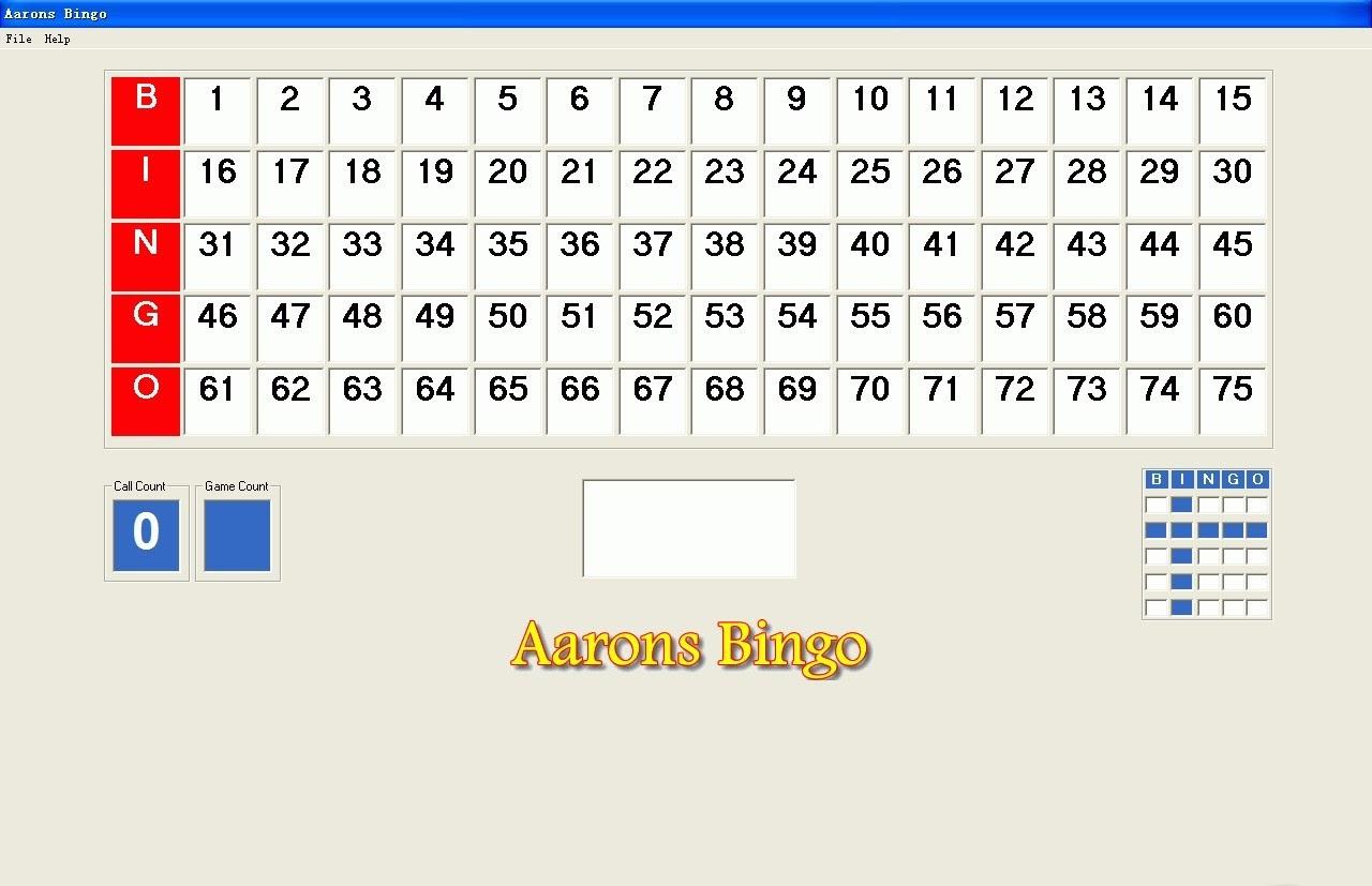 Virtual bingo caller
