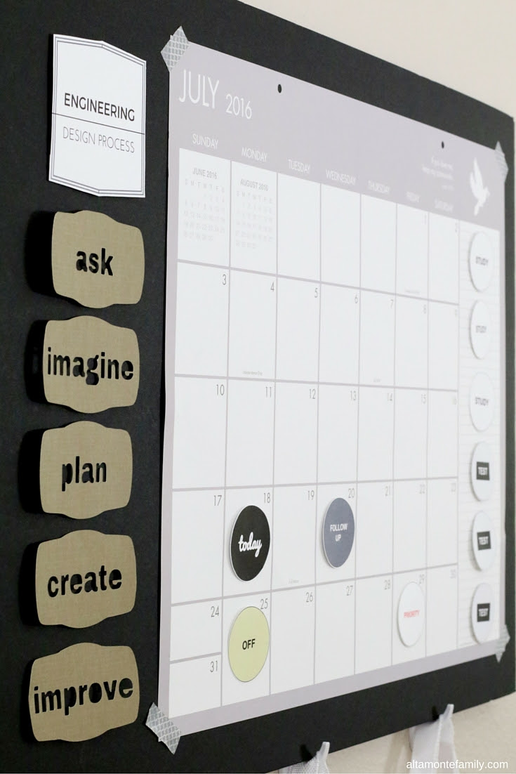 Diy Wall Calendar For Your College Dorm Room