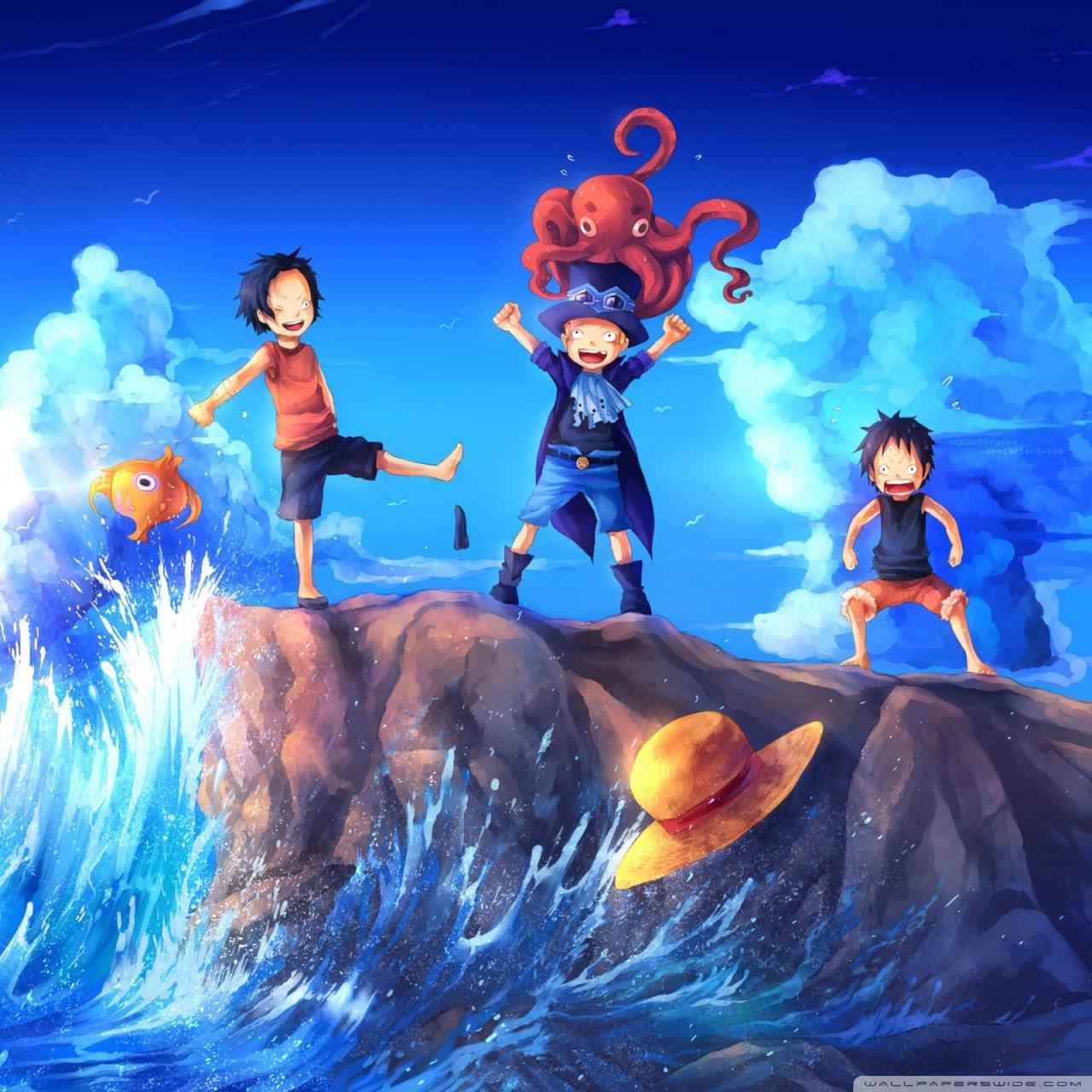 E Piece Art Sabo Portgas D Ace Luffy Ultra HD Desktop