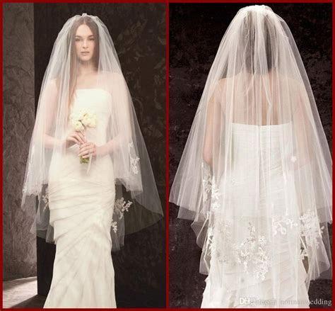 Elegant Cheap Lace Wedding Bridal Veils For Wedding