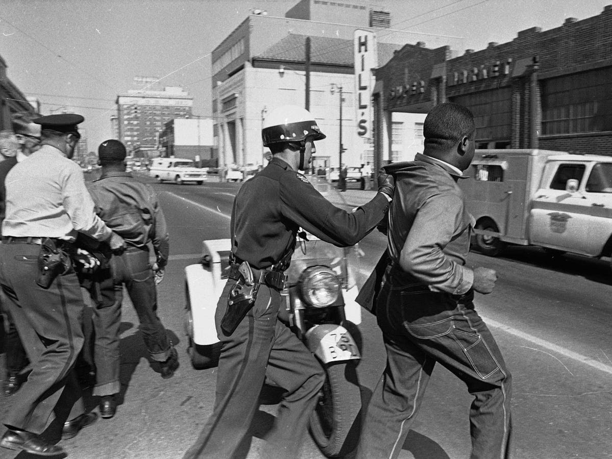 As a result, Martin Luther King, Jr. turned his focus to the area, organizing many anti-segregation demonstrations there. Police arrested King and his fellow civil rights proponent, Rev. Ralph Abernathy, on April 12, 1963 during a demonstration.