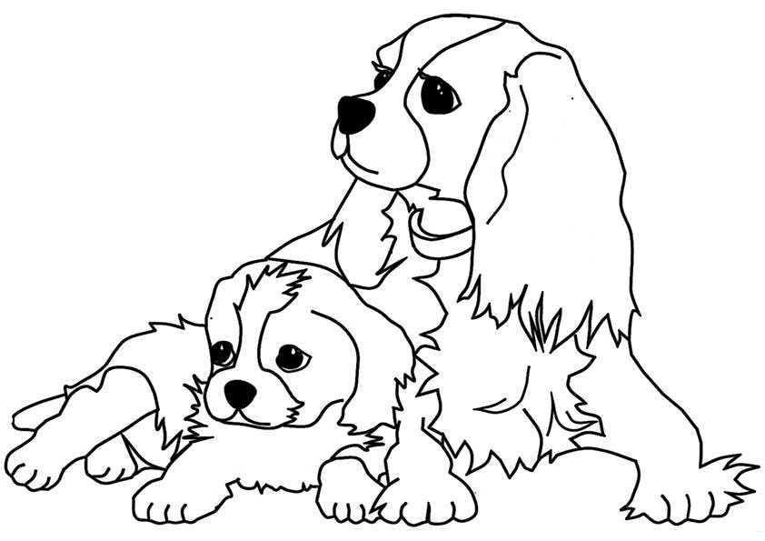ausmalbilder hunde-2 | Ausmalbilder Malvorlagen