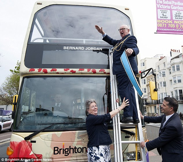 Tribute: A World War One Heritage Bus in Brighton and Hove has been named in honour of Bernard Jordan