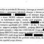 Zaslišanje svetovalca vlade Ministrstva za obrambo Slovenije, odgovornega na nakupe orožja, v katerem je potrdil menjavo 400 milijonov dinarjev v devize za nakupe orožja. (16. 11. 1994)