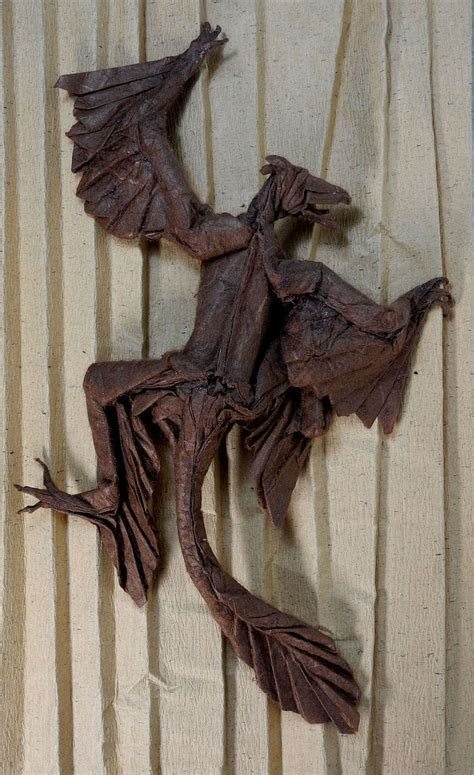 Highly Detailed Origami Dinosaurs and Dragons By
