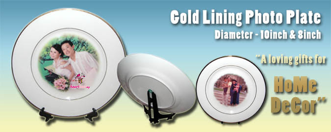 Gold Lining Plate - loving and perfect gifts for home decor gift ideas