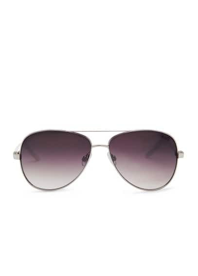 Contrast arm aviator sunglasses