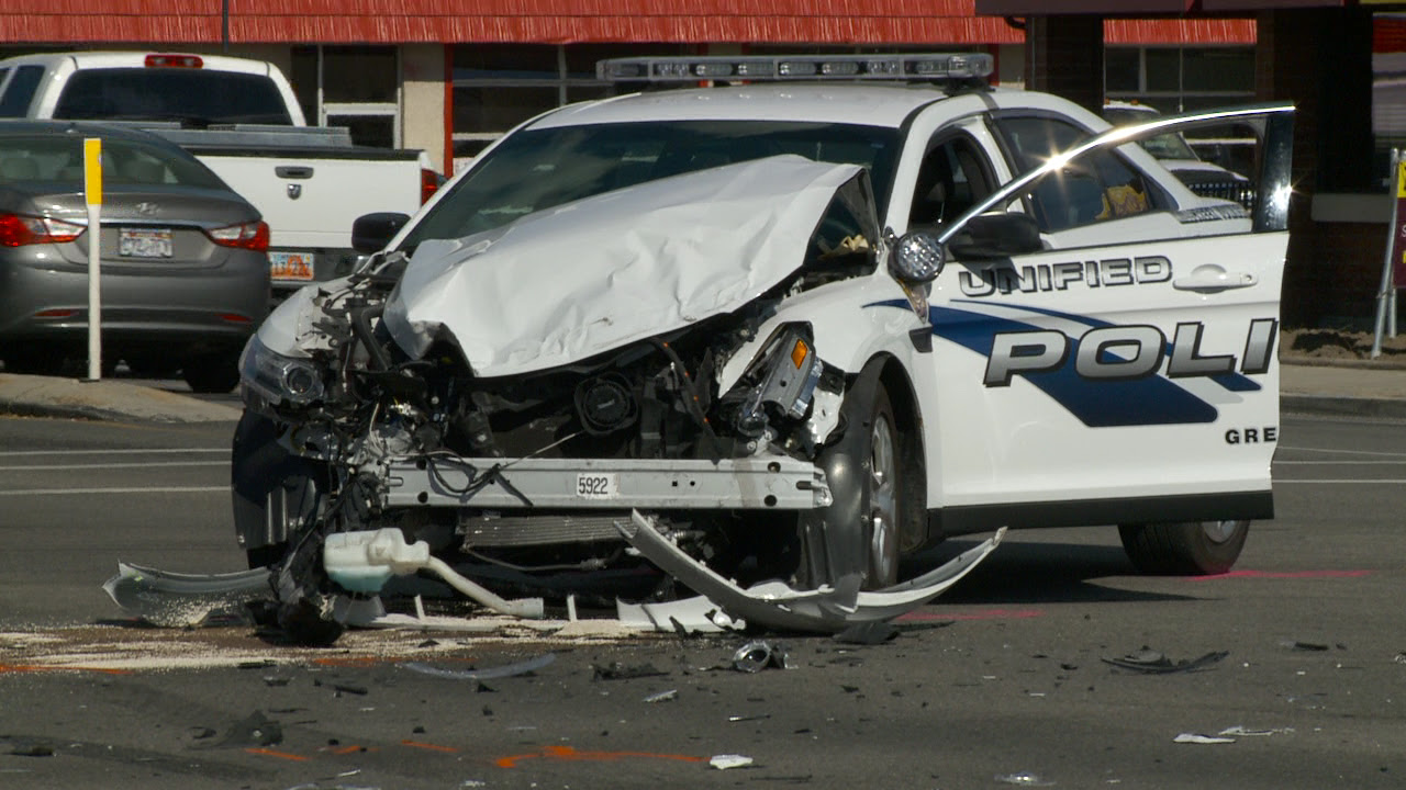 Officer taken to hospital after wreck involving police vehicle