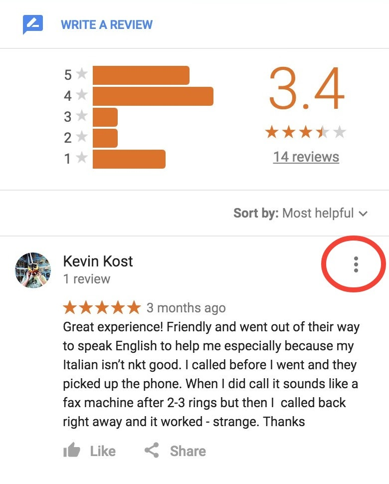 How to remove a false review on google maps - Google Product Forums