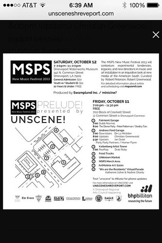 MSPS prelude, Fri, Oct 11, 7 pm, Crockett at Common St. by trudeau