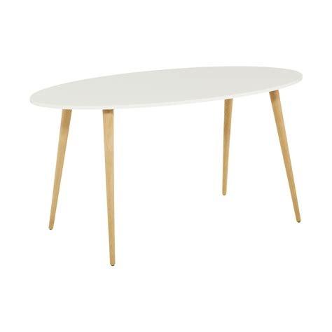 Esstisch Oval Weiß
