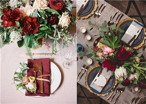 30 Elegant Fall Burgundy and Gold Wedding Ideas   Deer