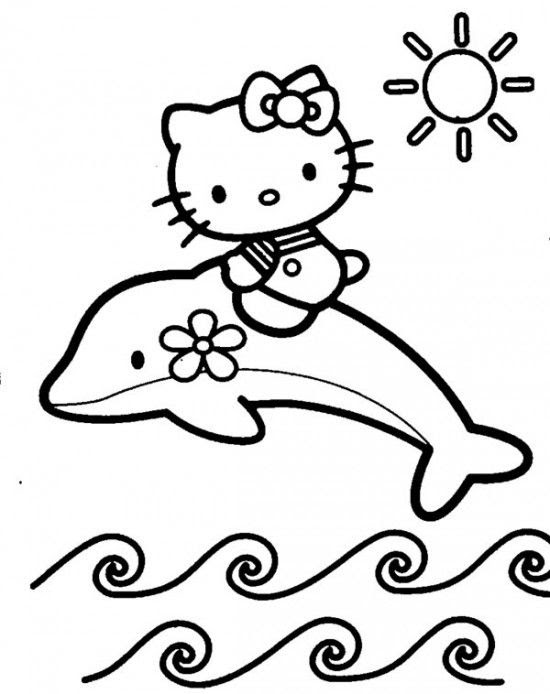 Baby Hello Kitty Coloring Pages At Getcoloringscom Free Printable