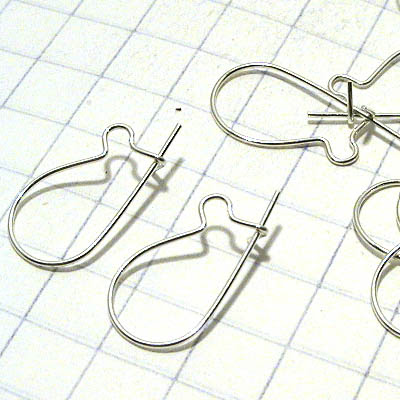 96096181 Sterling Earwires -  Kidney Wires - Sterling (pair)
