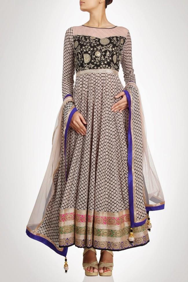 Beautiful-Gorgeous-Wedding-Bridal-Anarkali-Frock-Dresses-for-Girls-Fashion-by-Designer-Kiran-&-Shruti-Aksh-13