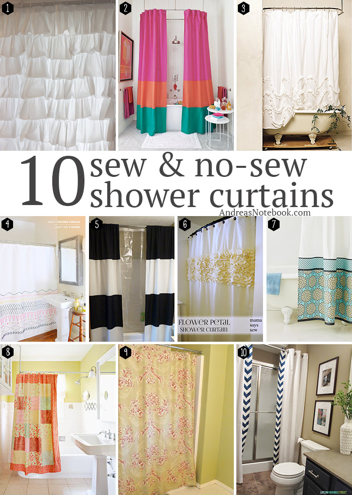 10 Diy Shower Curtains Sew And No Sew Andreas Notebook