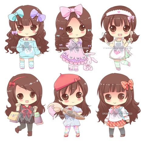 chibi commission  paper pastels  runawaywithyou