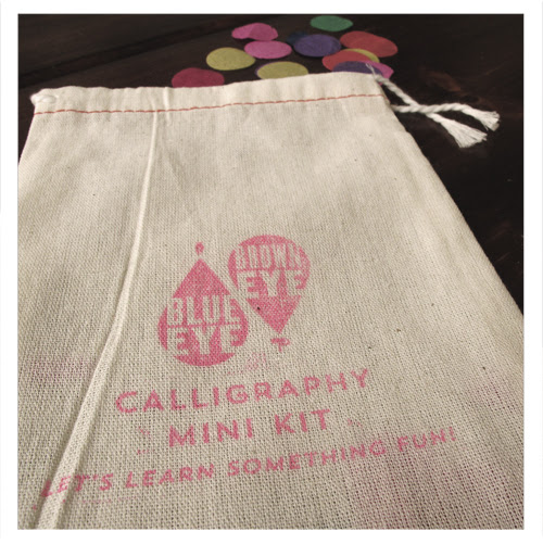 Calligraphy Mini Kit from Blue Eye Brown Eye