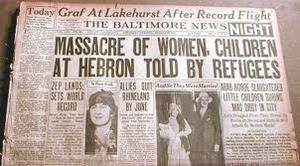 La strage di Hebron documentata da un giornale d'epoca