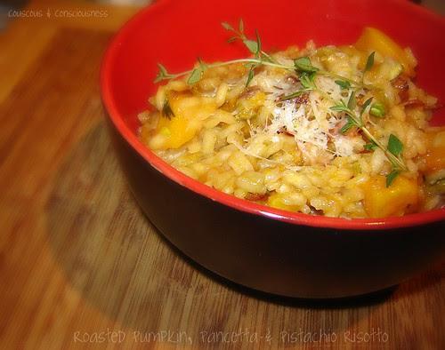 Roasted Pumpkin, Pancetta & Pistachio Risotto 1