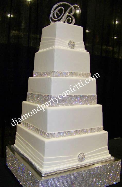 Rhinestone Bling Wedding Cake   CakeCentral.com