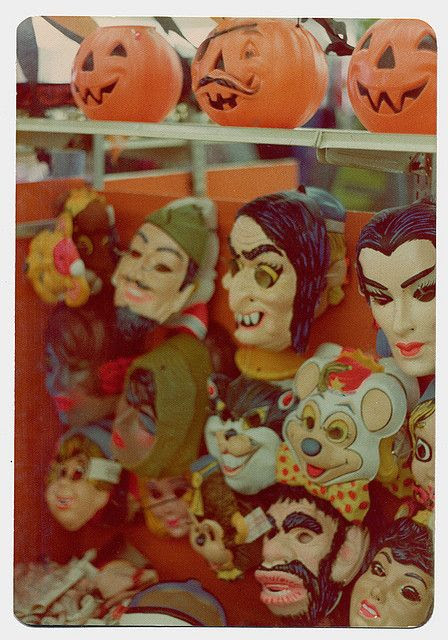 Halloween in the 1970's....plastic masks