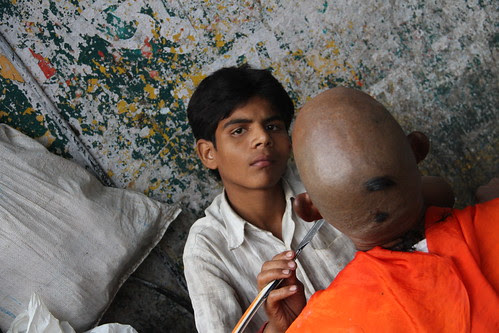 The Barbers at Banganga on Pitru Paksh.. 2012 by firoze shakir photographerno1