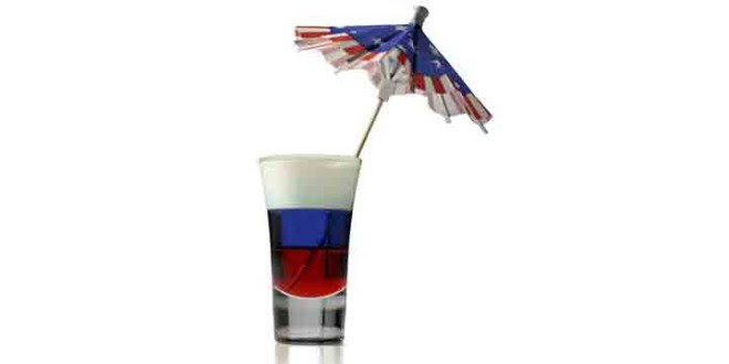 4th Of July Cocktails Red White And Blue Shot